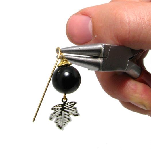 Perlevedhæng med onyx