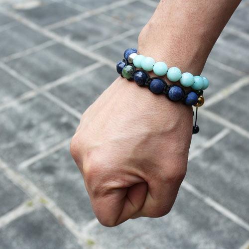 DIY Knyttet armbånd med lapis lazuli
