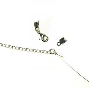 karabinlås og kædeforlænger til perlekæde