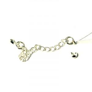 halvædelsten på wire og kædeforlænger