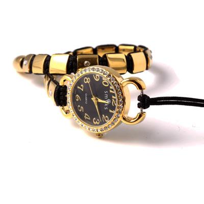 macramé knyttet armbånd med ur