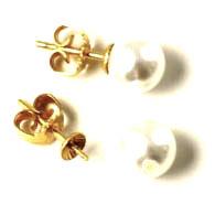 ørestikker med anborede shell pearls