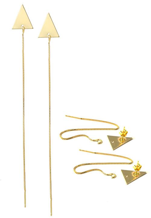trekantede ørestikker med kæde