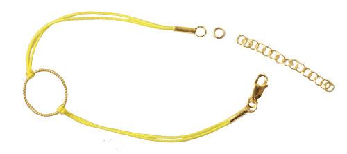 Lille armbånd med snoet ring og forlængerkæde