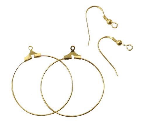 kreoler med delica perler og ørehængere