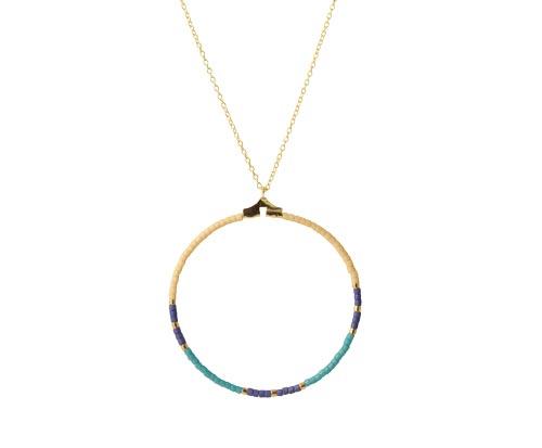 halskæde med delica perler i ring