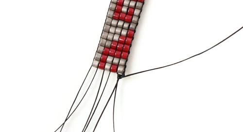 lav selv vævet armbånd med delica perler