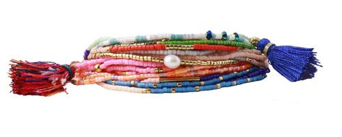 Armbånd med delica perler på wire