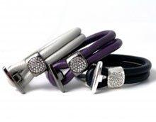 DIY Læderarmbånd med krystallås.