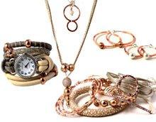 DIY Smykker i rose-gold og kobberfarver.