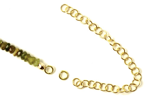 Halskæde på wire med kædeforlænger