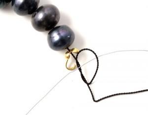 vejledning til knude på silkesnor