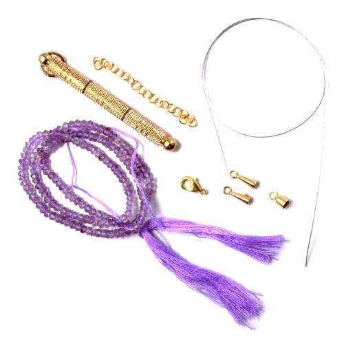 Materialer til armbånd med ametyster på wire