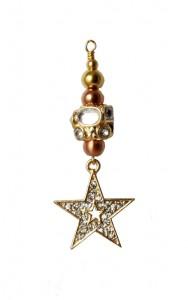 julepynt med stjerne og krystaller