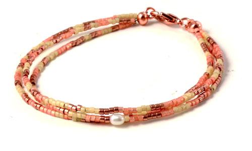 Armbånd med delica perler