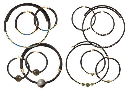 smykker med memory wire og gummisnor