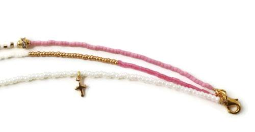 seed bead armbånd med kors
