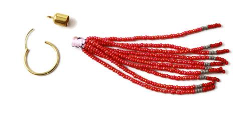 frynser af seed beads