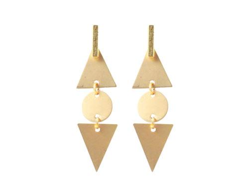 ørering med trekanter og mønter
