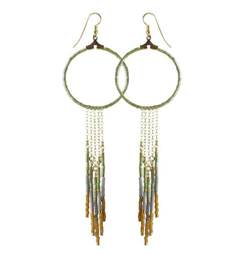diy earrings med kæder og delica perler