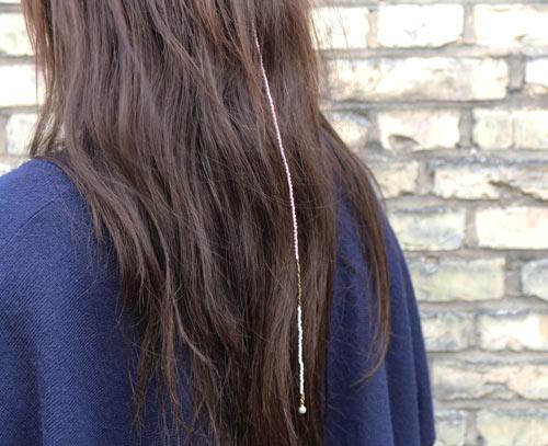 hårpynt med delica og seed beads