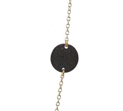 oxideret mønt i halskæde