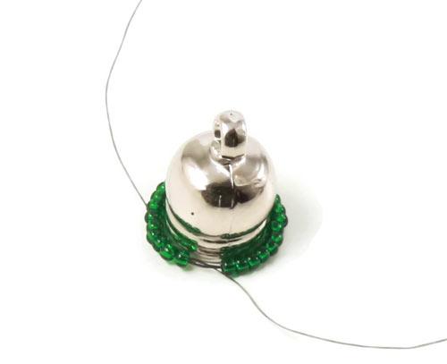 Perlesyning til hætte på tassel øreringe
