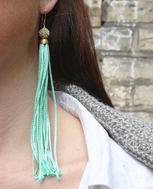 Tassel øreringe med krystaller DIY