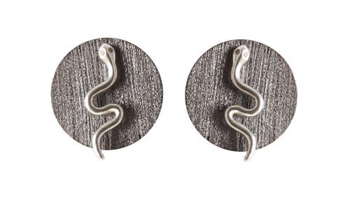 ørestik med slange og zirkoner