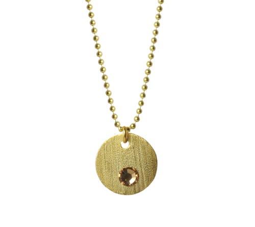 halskæde med forgyldt mønt og krystal