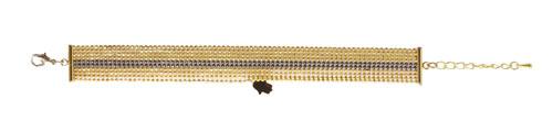 armbånd med forgyldt og oxideret kuglekæde