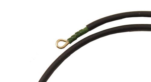 øje afslutning på armbånd med memory wire