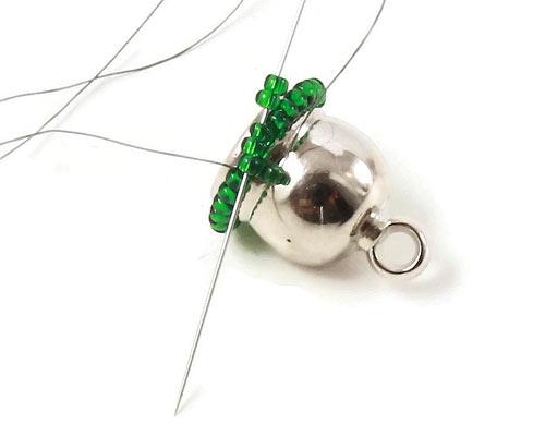 Perlesyning - Sy 2 perler på ad gangen