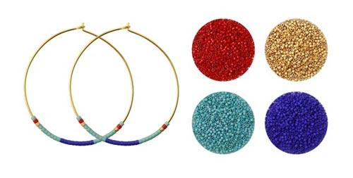 Delica creol øreringe og farvekombination