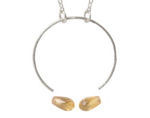 halskæde med ring og citrin