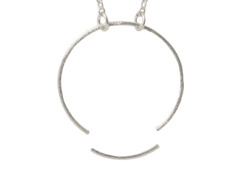 halskæde med sterling sølv ring