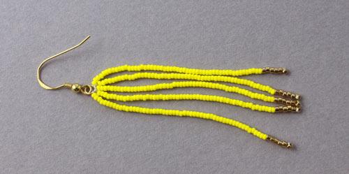 Tassel øreringe med seedbeads