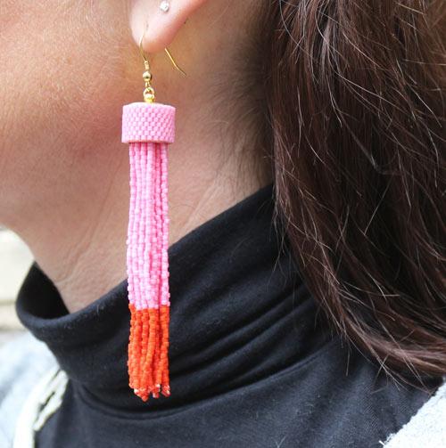 Tassel øreringe med delica perler