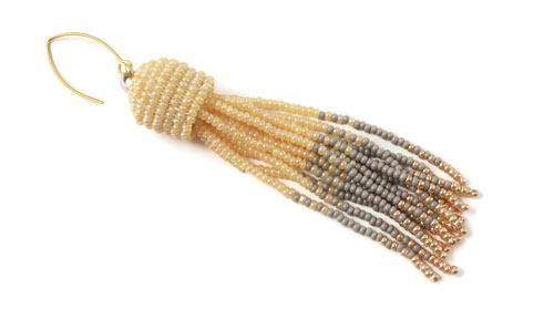 DIY tassel øreringe i seedbeads