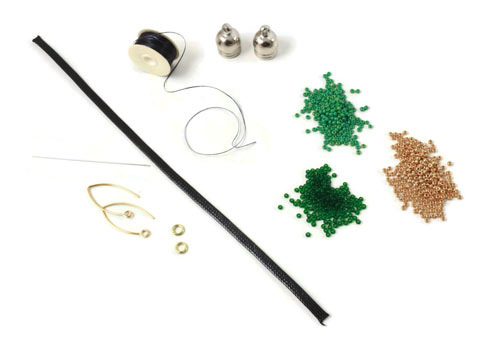 Materialer til DIY tassel øreringe