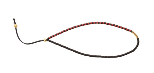 lav selv armbånd med silkesnor og delica perler