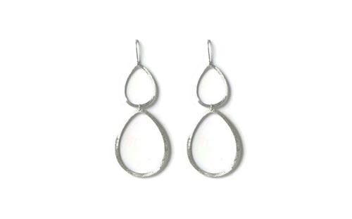 Øreringe i sølv med dråber