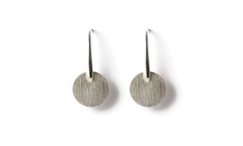 Øreringe i sterlingsølv med mønt
