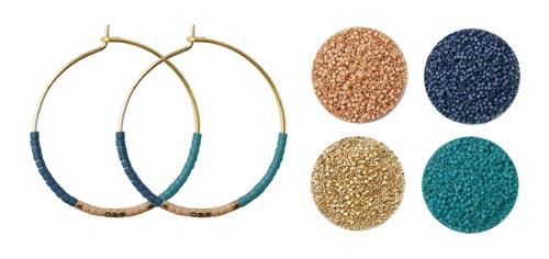 kreoler med delica perler og farvetrend
