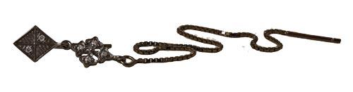 oxideret ørekrog med kæde harlekin form