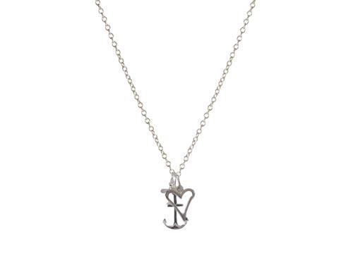 Sølv halskæde tro, håb og kærlighed