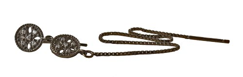 ørering med kæde og link