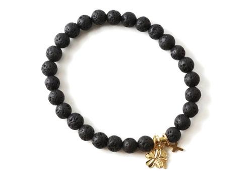 DIY Mala armbånd med lava perler og charms