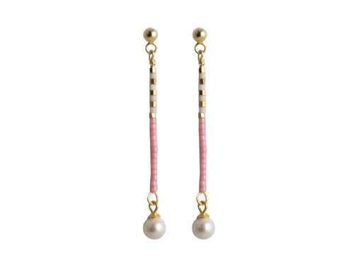 ørestik med stav og perler