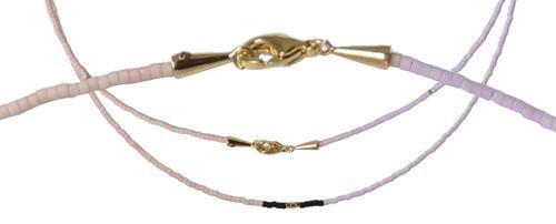 Delica halskæde med wire